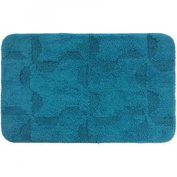 Tapete para Baño Pie Cama Antiderrante Azul