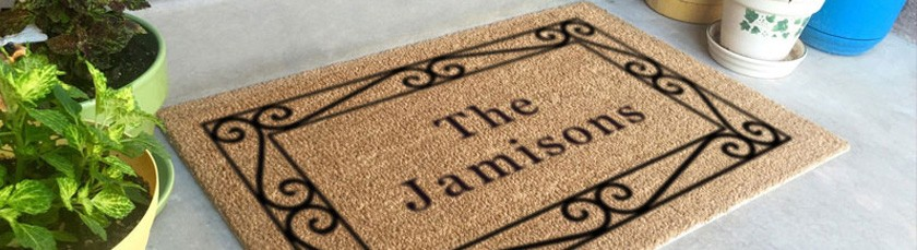Use Logo Mats to Welcome your family and friends to your home.